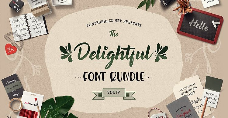 The Delightful Font Bundle IV