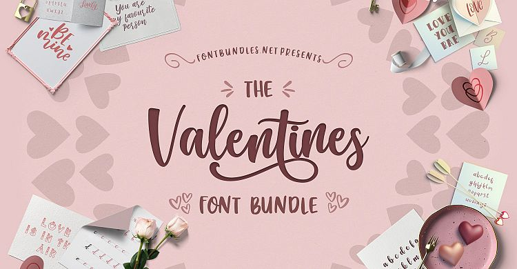 The Valentines Font Bundle