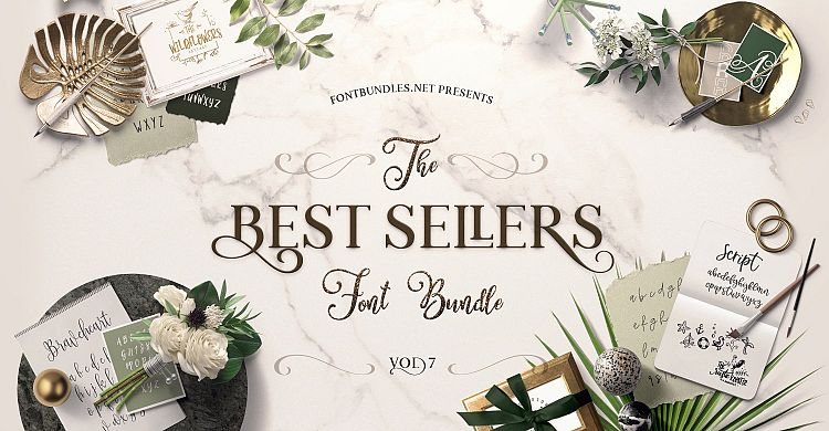Best Sellers Font Bundle 7