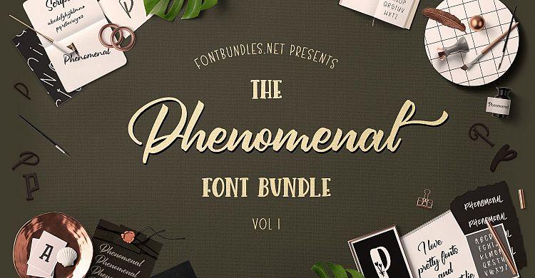 The Phenomenal Font Bundle 1