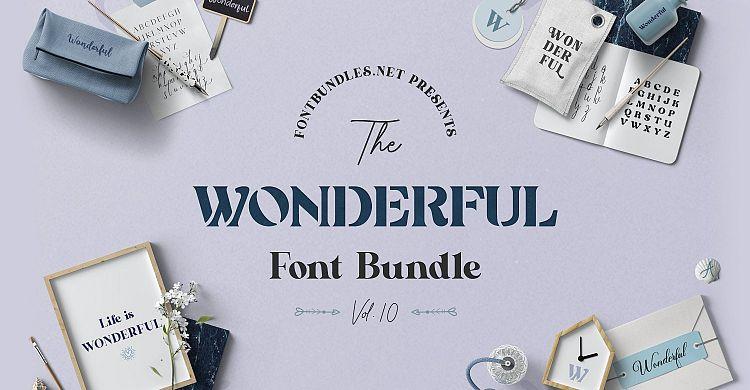 The Wonderful Font Bundle 10