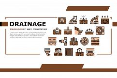 Drainage Water System Landing Header Vector Product Image 1