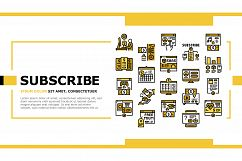 Subscription Content Landing Header Vector Product Image 1