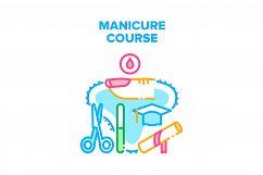 Manicure Course Vector Concept Color Illustration Product Image 1