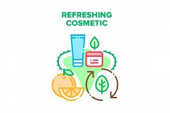 Refreshing Cosmetic Cream Vector Concept Color Product Image 1