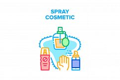 Spray Cosmetic Vector Concept Color Illustration Product Image 1