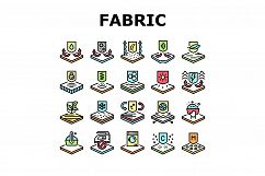 Fabrics Properties Collection Icons Set Vector Product Image 1