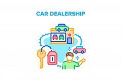 Car Dealership Vector Concept Color Illustration Product Image 1