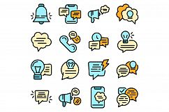 Tips icons set vector flat Product Image 1