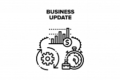 Business Update Vector Black Illustration Product Image 1