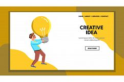 Creative Idea Searching And Finding Man Vector Product Image 1