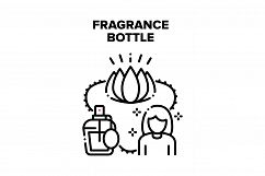 Fragrance Bottle Vector Black Illustration Product Image 1