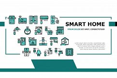 Smart Home Equipment Landing Header Vector Product Image 1