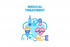 Medical Treatment Health Vector Concept Color Product Image 1