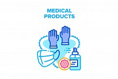 Medical Products Vector Concept Color Illustration Product Image 1