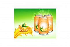 Orange Juice Creative Promotional Poster Vector Product Image 1