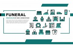 Funeral Burial Service Landing Header Vector Product Image 1