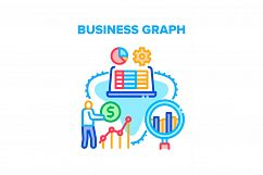 Business Graph Vector Concept Color Illustration Product Image 1