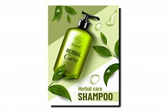 Herbal Care Cosmetic Promotional Poster Vector Product Image 1