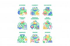 Finance Economic Set Icons Vector Illustrations Product Image 1