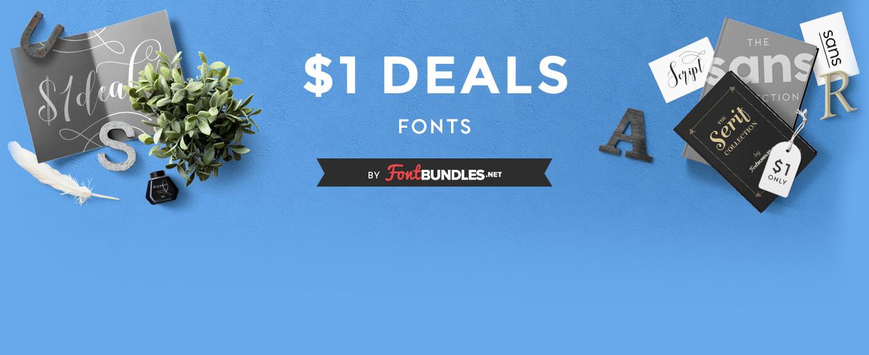 One Dollar Font Deals Event