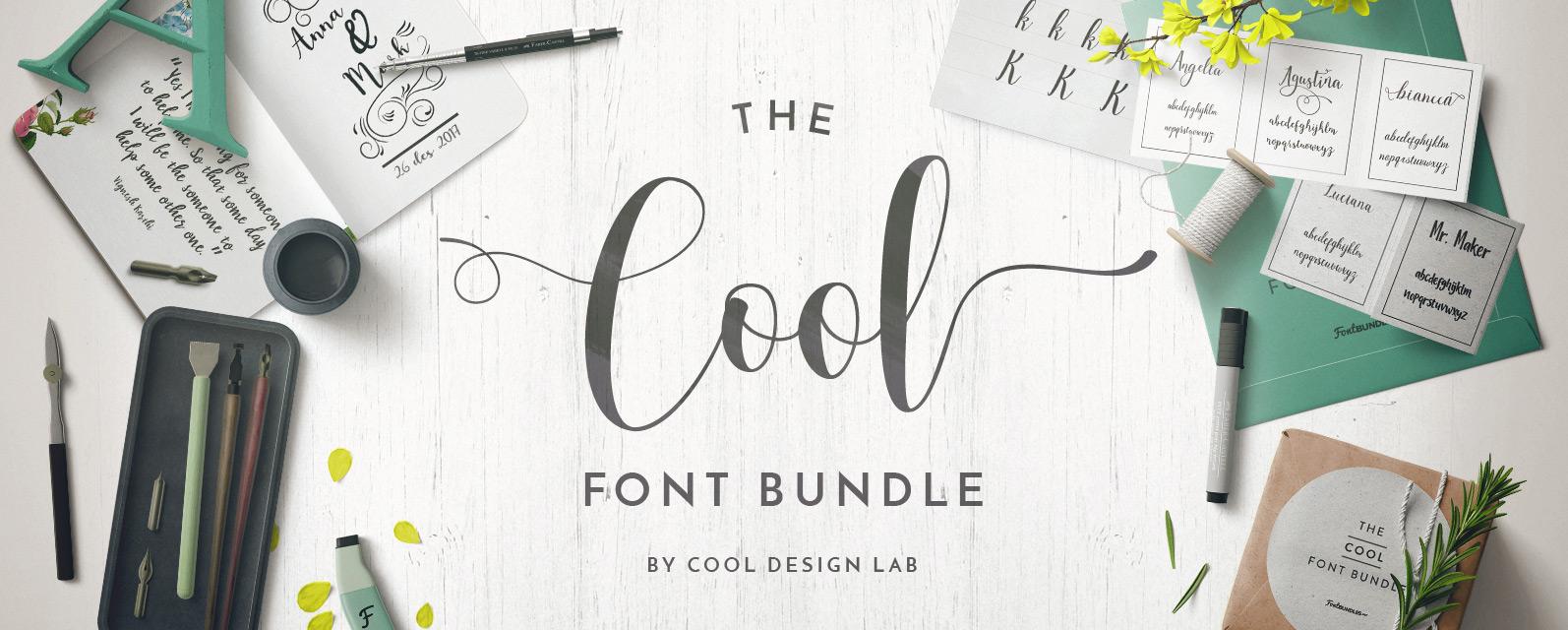 Cool Font Bundle Cover
