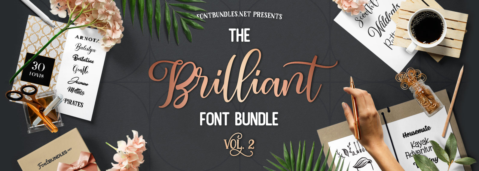 The Brilliant Font Bundle Volume II Cover