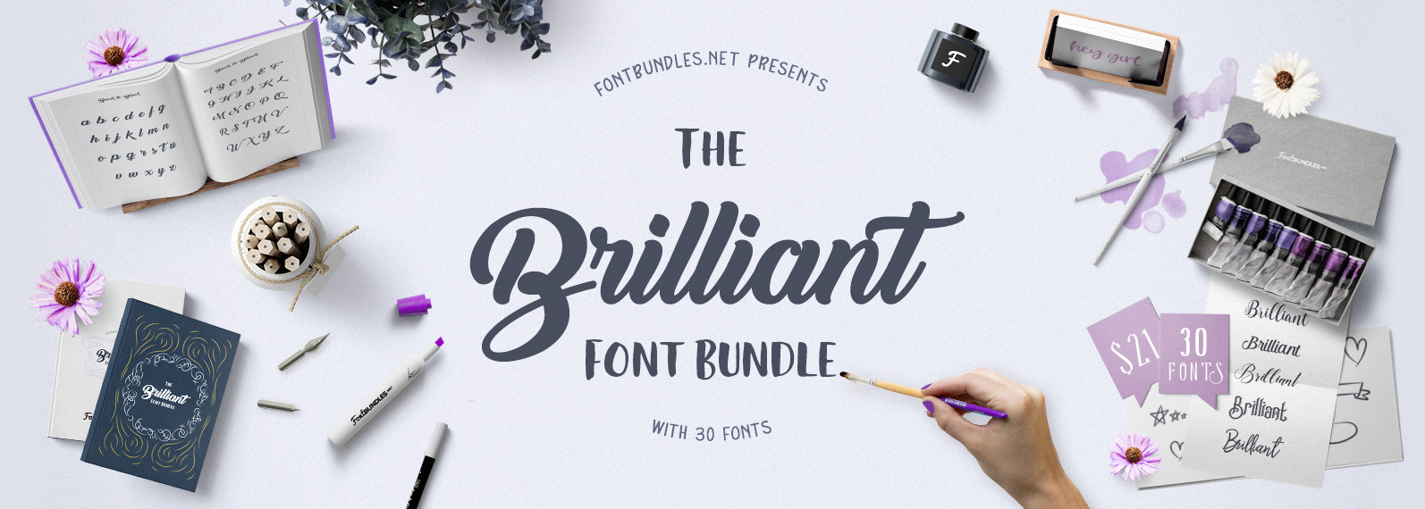 The Brilliant Font Bundle Cover