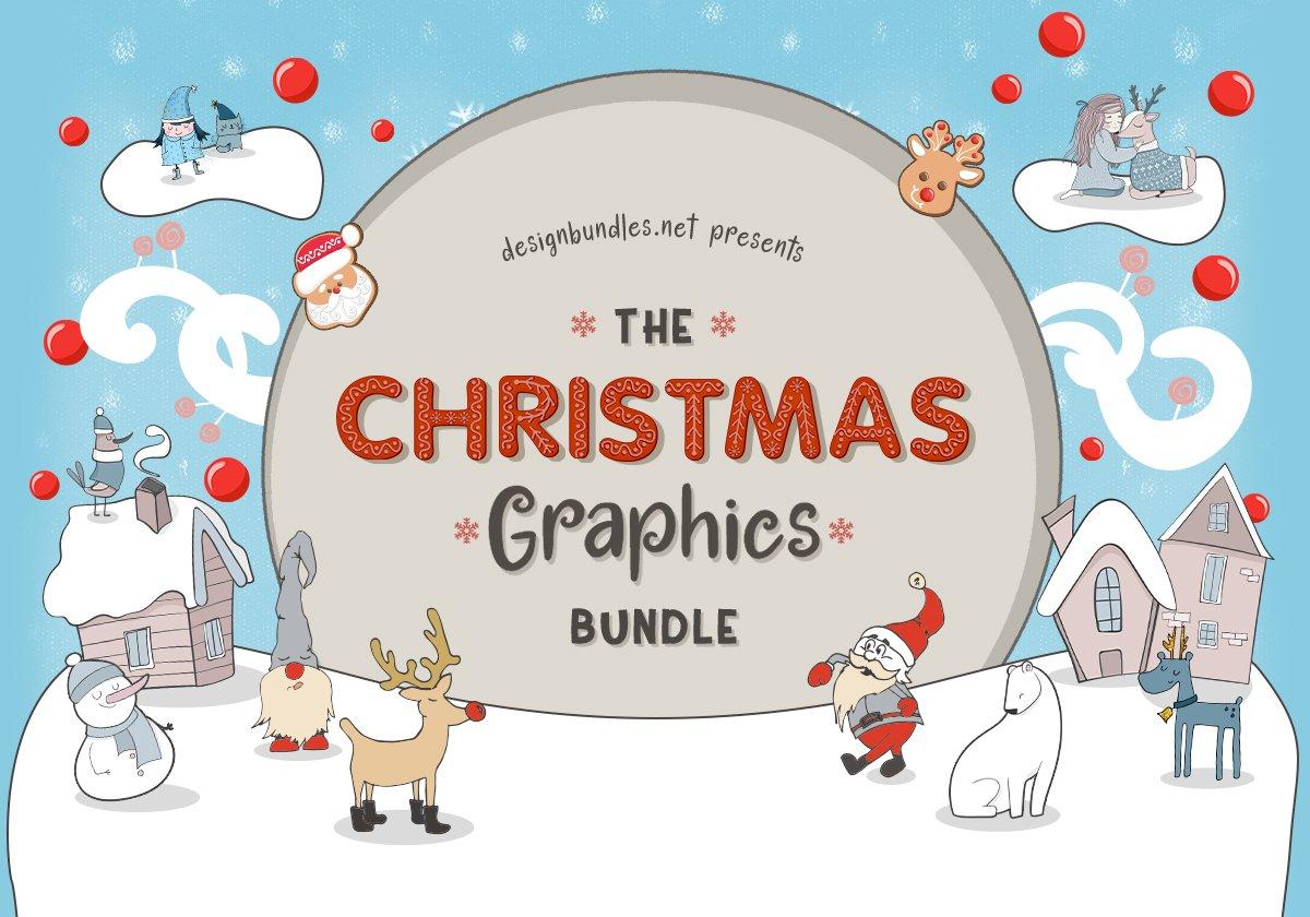 Christmas Graphics.The Christmas Graphics Bundle Design Bundles