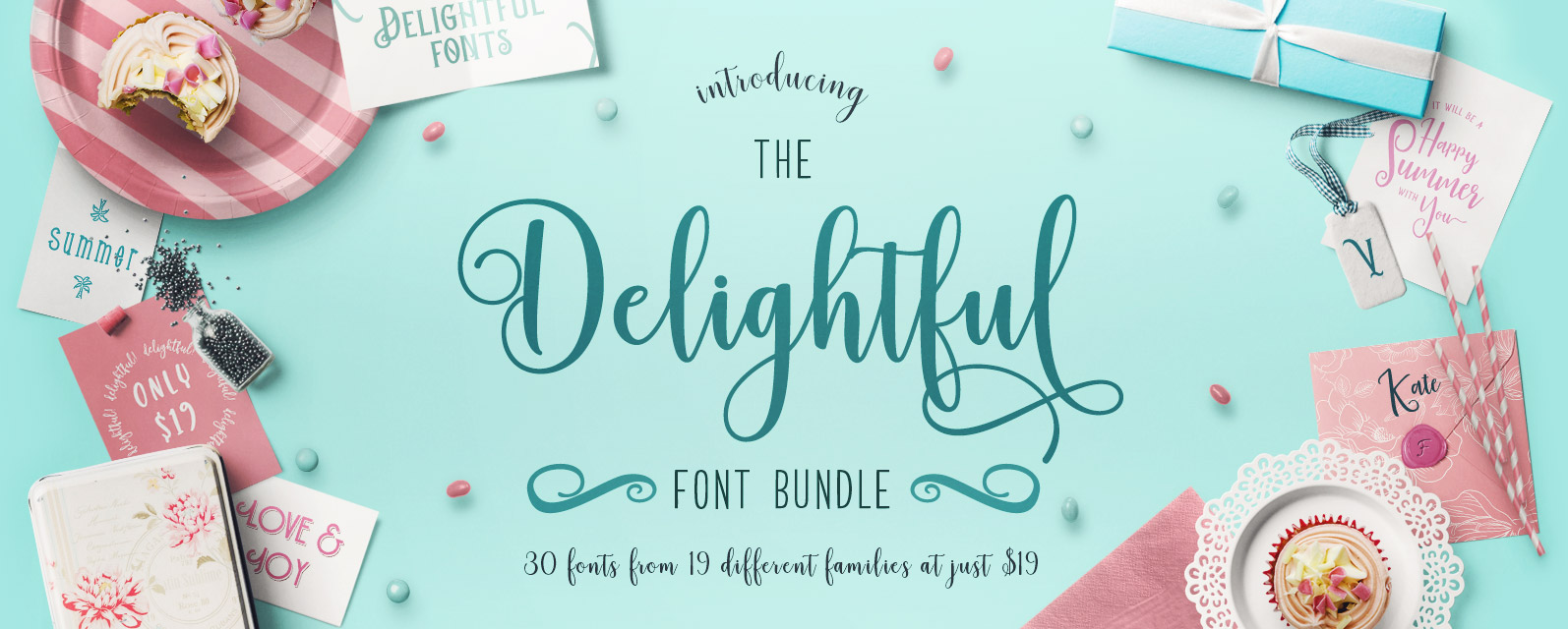 The Delightful Font Bundle Cover