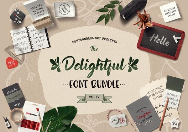 The Delightful Font Bundle IV Cover