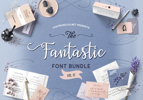 The Fantastic Font Bundle III Cover