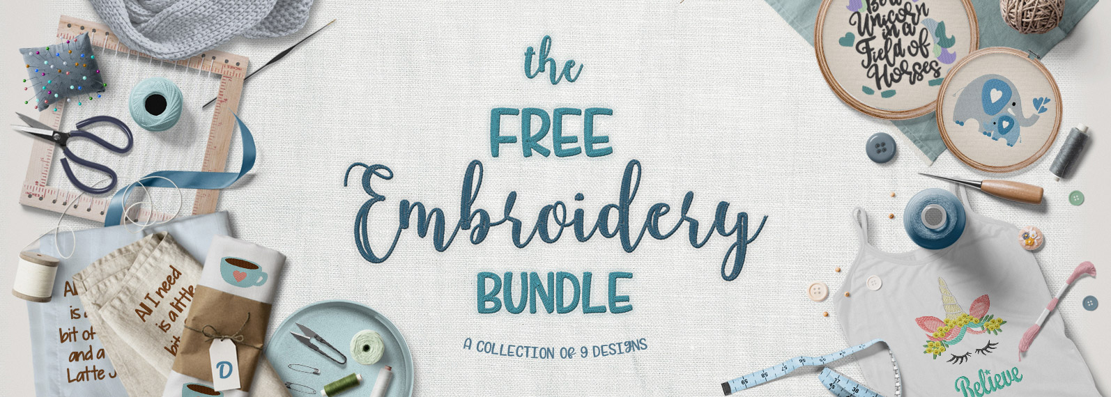 The Free Embroidery Bundle Cover