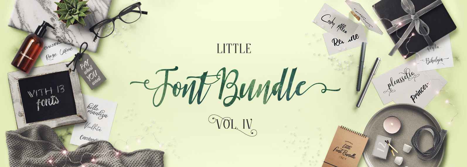 The Little Font Bundle Vol IV Cover
