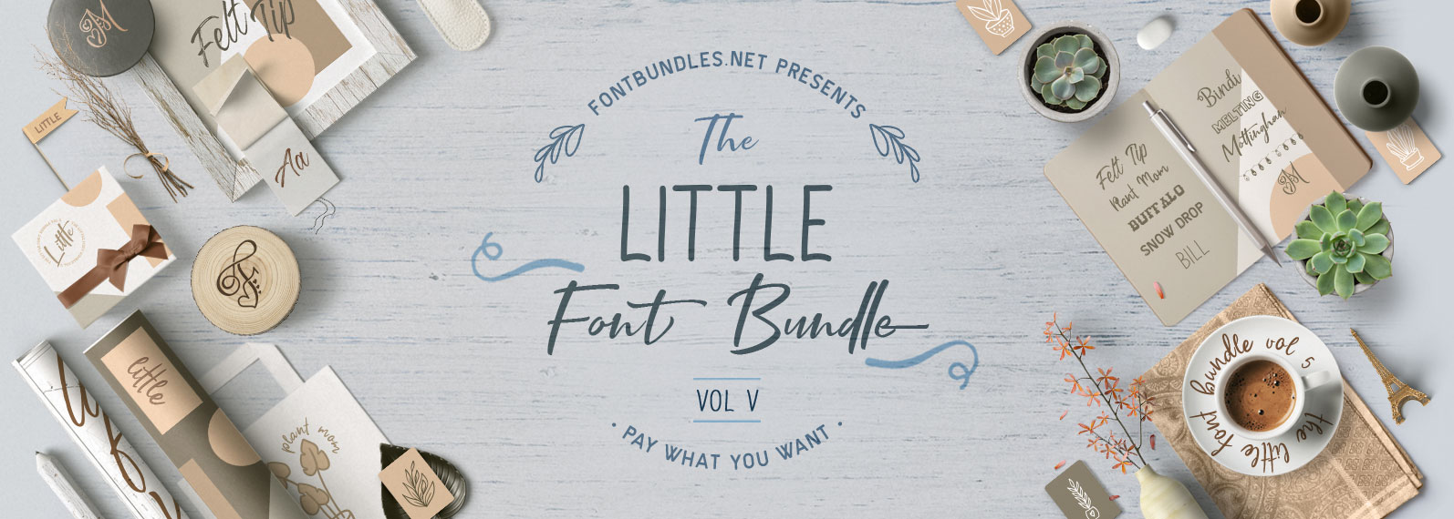 The Little Font Bundle Vol V Cover
