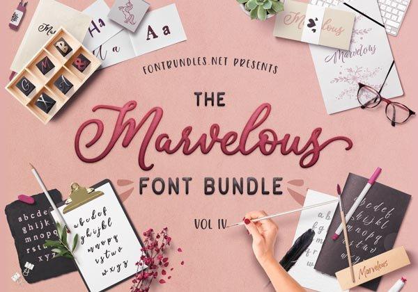 The Marvelous Font Bundle IV Cover