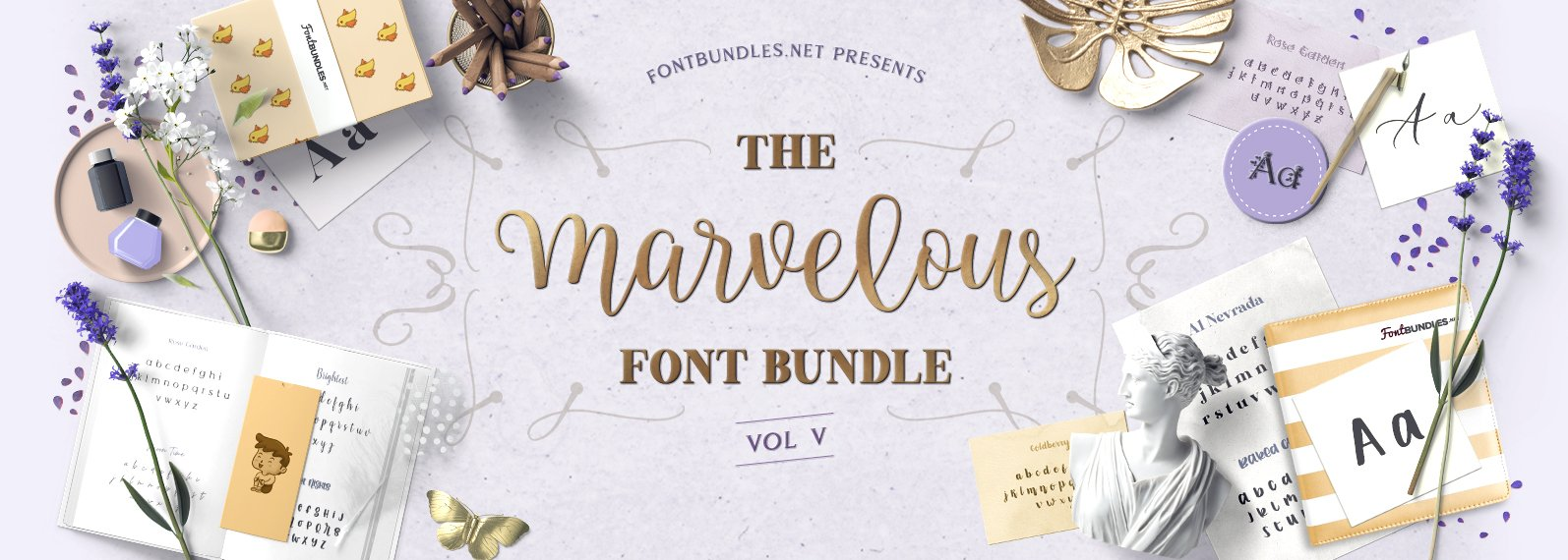 The Marvelous Font Bundle V Cover