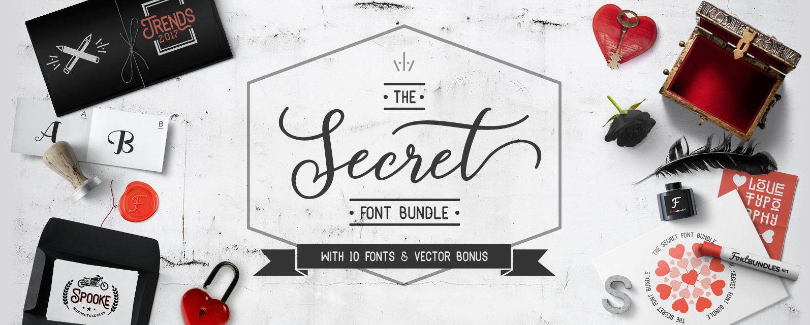 The Secret Font Bundle Cover