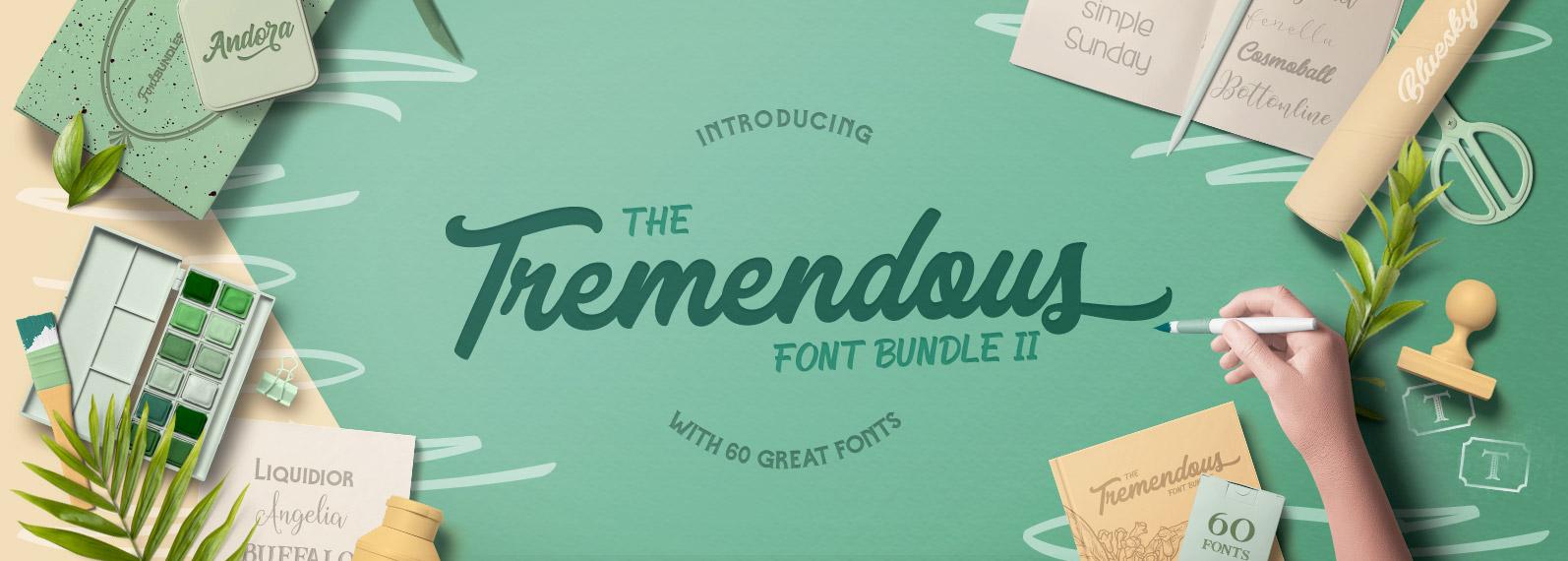 The Tremendous Font Bundle Volume II Cover