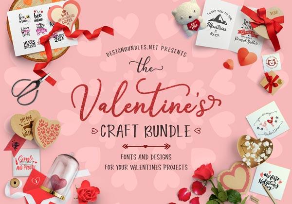 The Valentines Craft Bundle Design Bundles