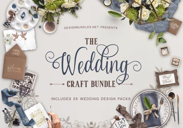 The Wedding Craft Bundle Design Bundles