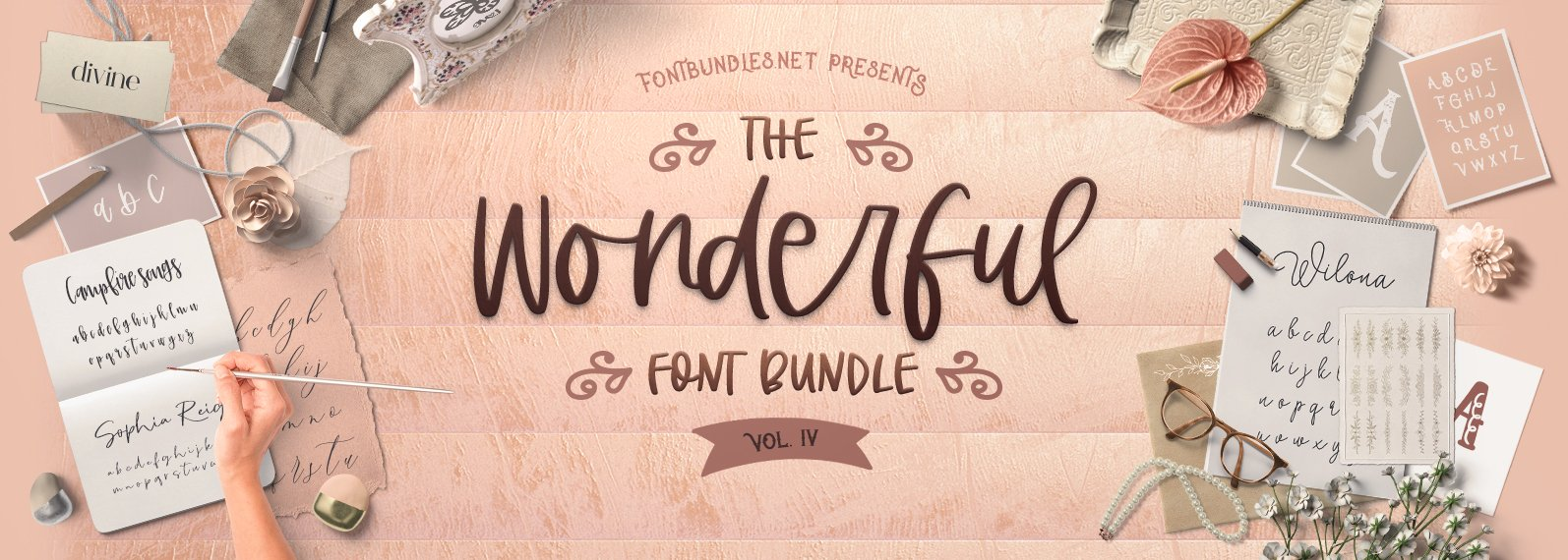 The Wonderful Font Bundle IV Cover