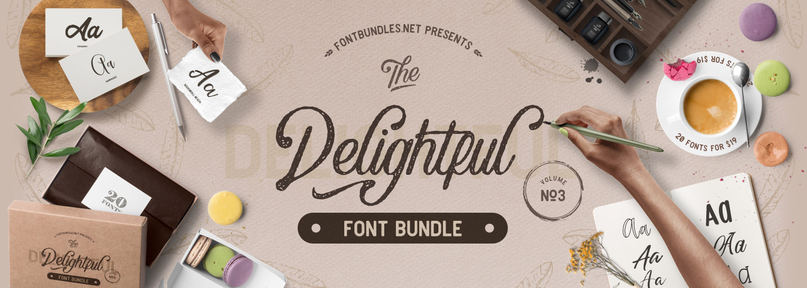The Delightful Font Bundle Vol III Cover