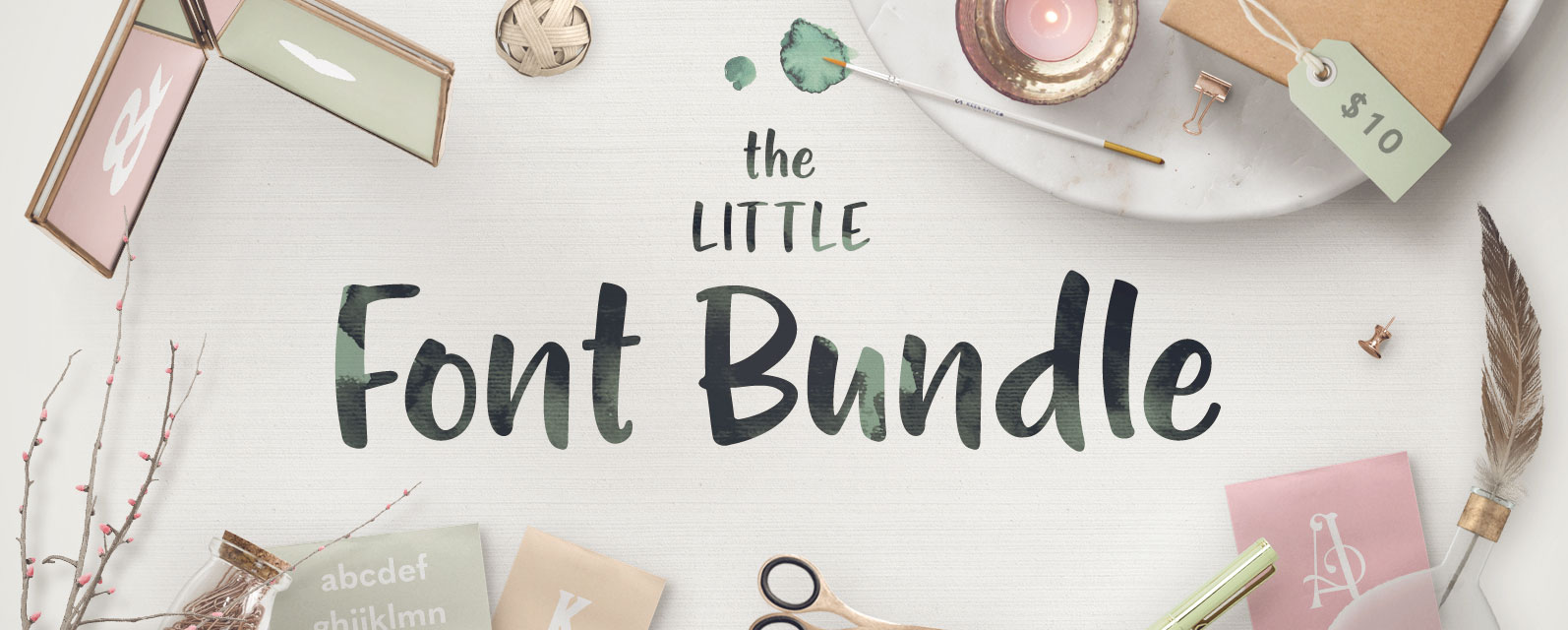The Little Font Bundle Cover