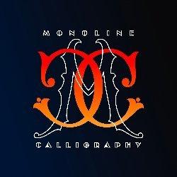 MonoLine Calligraphy Avatar