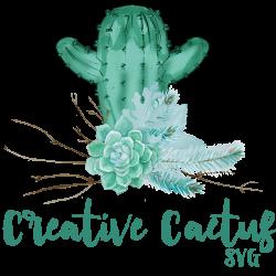 Creative Cactus SVG Avatar