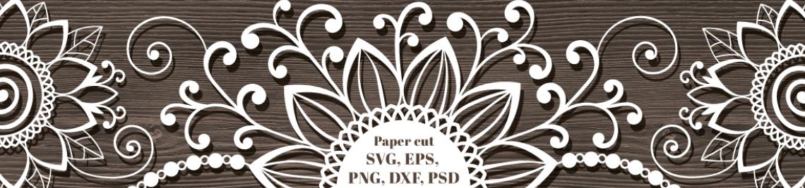 Paper Cut Template-Pattern-Certificate Profile Banner