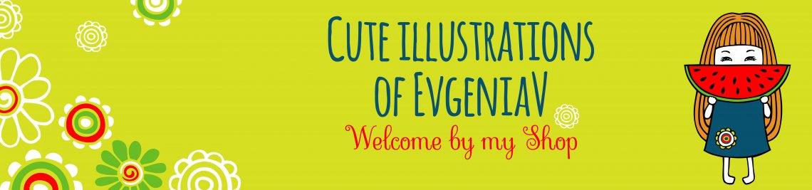 Cute illustrations of EvgeniaV  Profile Banner
