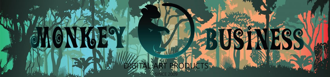Monkey Business Digital Art Profile Banner