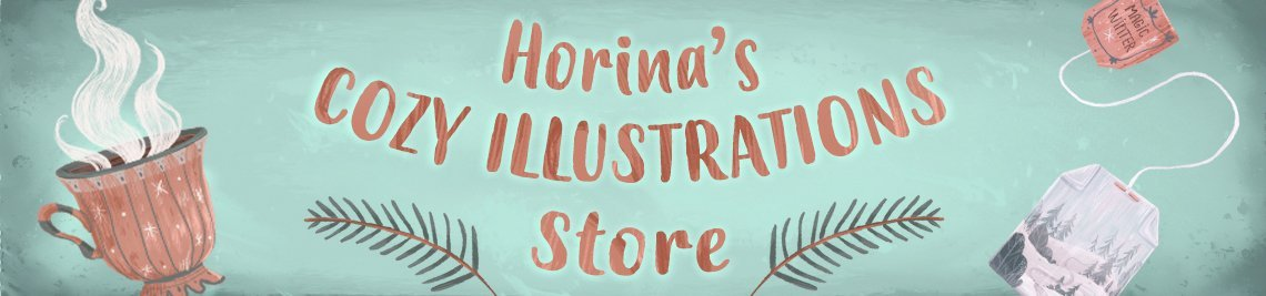 Horina's Cozy Illustrations Store Profile Banner